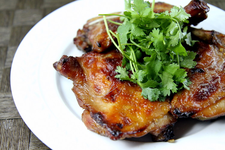 Vietnamese roasted chicken com ga nuong